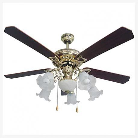 พัดลมเพดานมีโคมไฟ รุ่น ML-03-6L-PB