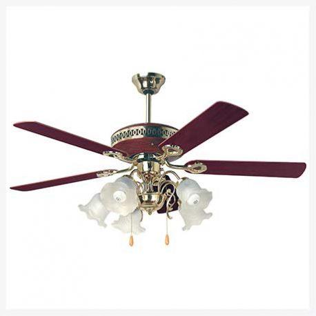 พัดลมเพดานมีโคมไฟ รุ่น ML-05-5L-CHR/PB