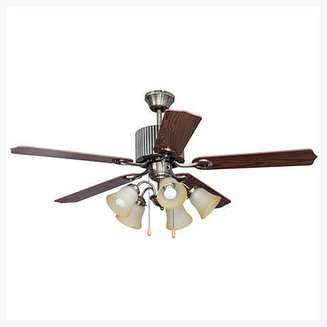 พัดลมเพดานมีโคมไฟ รุ่น ML-06-5L-AB