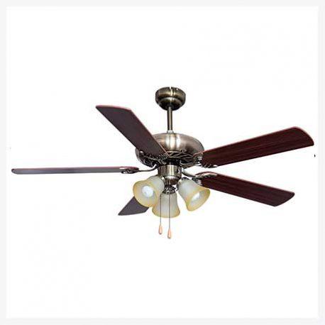พัดลมเพดานมีโคมไฟ รุ่น ML-07-3L-AB