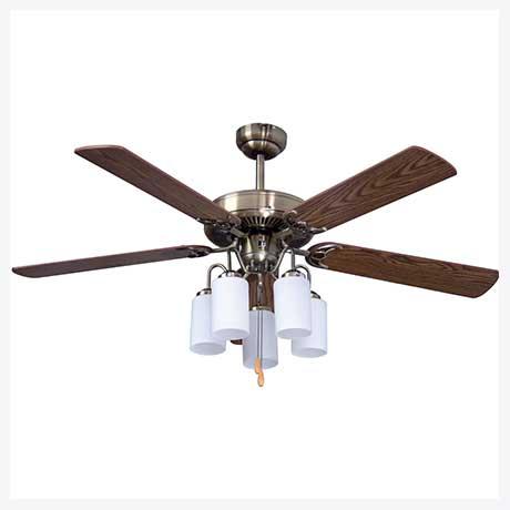 พัดลมเพดานมีโคมไฟ รุ่น ML-08-5L-AB