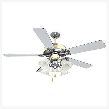พัดลมเพดานมีโคมไฟ รุ่น ML-552-5L-CH/PB